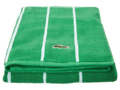 lacoste sport stripe bath towel shipped free at zappos
