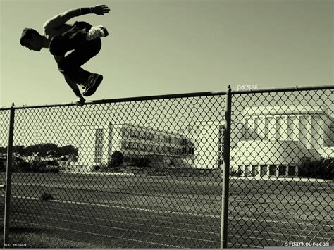 jumping fence parkurschik jumping the fence wallpapers and images wallpapers pictures photos