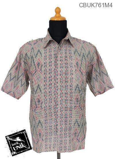 Sale Kemeja Motif Lengan Pendek Dongker Garis baju batik kemeja katun motif tenja garis kemeja lengan