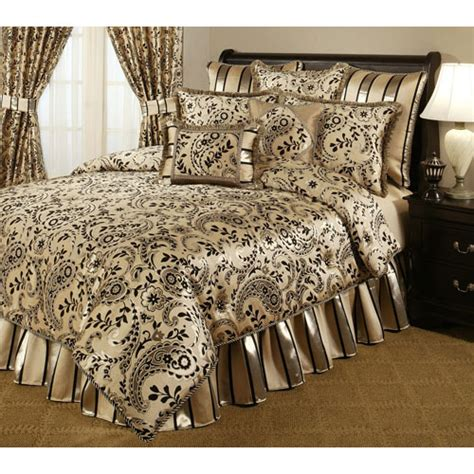 Gold And Black Bedding by Black And Gold Comforter Set Bellacor Black And Gold