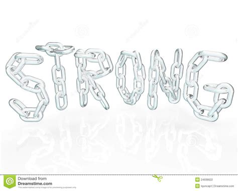 Letter Linker Strong Chain Link Word Letters Metal Chains Royalty Free