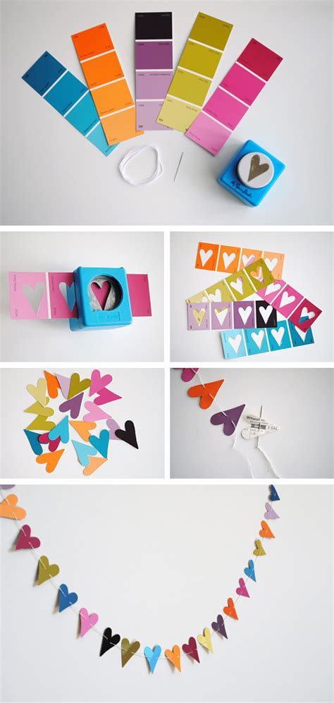 Do It Yourself Paper Crafts - diy paper punch garland pictures photos and images
