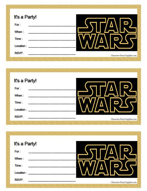 Printable Star Wars Invitations | google image result for http character party supplies