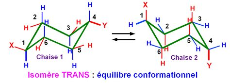 conformation chaise cyclohexanes mono substitu 233 s