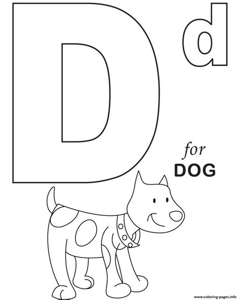 printable alphabet coloring d for dog printable alphabet s29a7c coloring pages printable