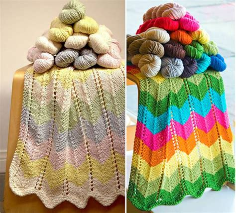 zig zag baby blanket by knit culture studio free knitted wonderful diy crochet baby blanket and hat set