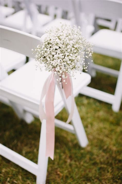 Wedding Aisle Flower Decorations by A Beautiful Hayley For A Pretty White Blush