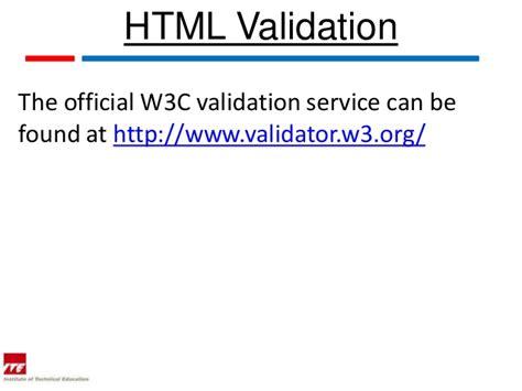 html validation w3c web topic 13 html validation tools