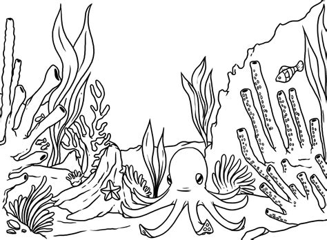el ecosistema colouring pages arrecifes para colorear