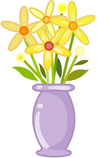 Flowers In A Vase Clipart vase of flowers clip