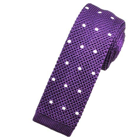 purple knit tie purple white polka dot silk knitted tie from ties planet uk