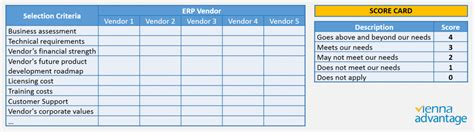 software vendor selection criteria template 9 steps guide for successful erp selection