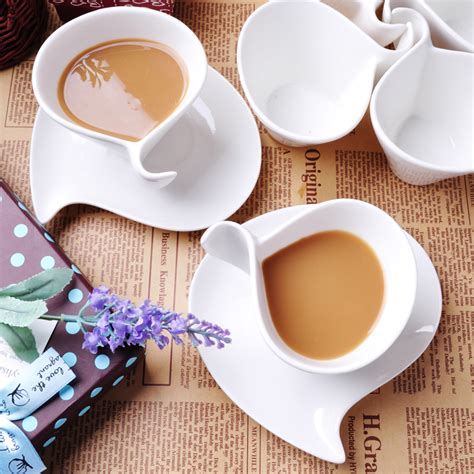 fancy coffee cups promotion online shopping for fashion fancy bone china coffee cup set white ceramic