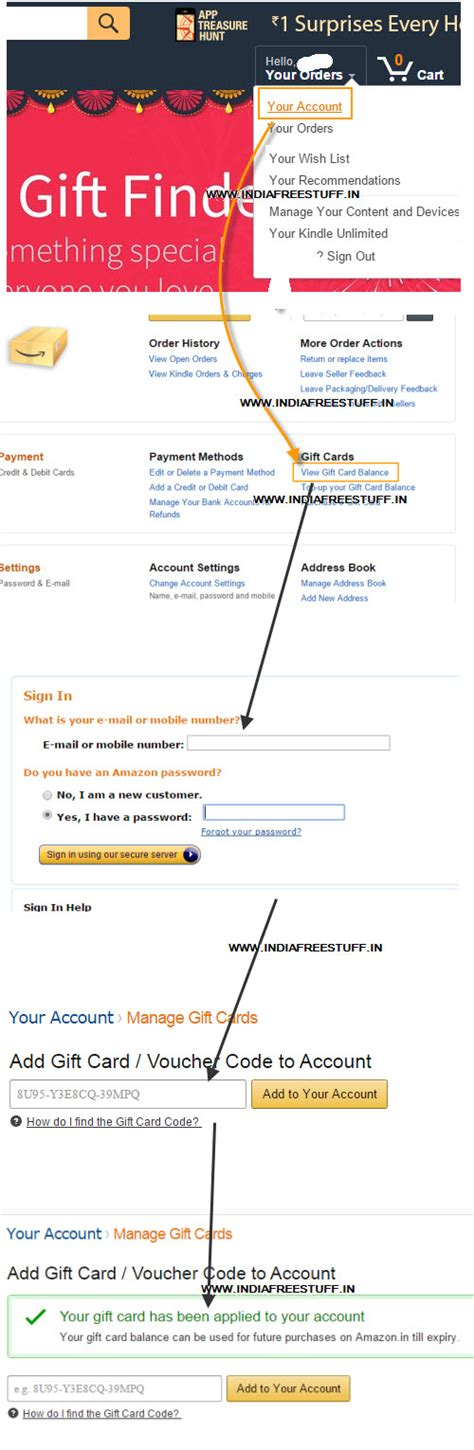 My Amazon Gift Card Balance - how to add use amazon gift card