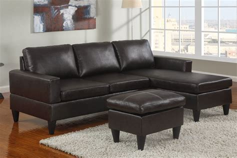 Black Leather Sectional Sleeper Loveseat With Right Chaise Leather Sectional Sleeper Sofa With Chaise