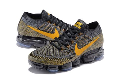 cheap mens sneakers wholesale wholesale nike air vapormax flyknit 2018 black gold 849558