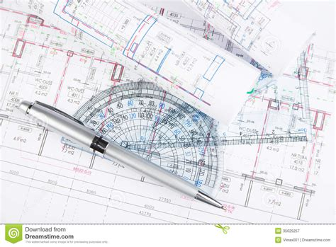 free architecture drawing tool architectural drawings with tools royalty free stock