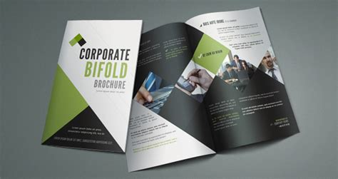 bi fold templates for brochures corporate bi fold brochure template brochure templates