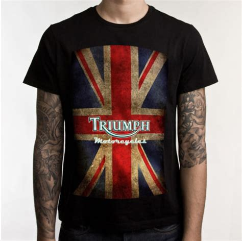 Triumph Motorrad T Shirt by Triumph Motorcycle Biker Custom Mens T Shirt 100 Cotton