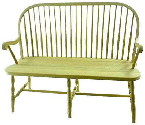 Hall Bench Oak by Round Spindle Windsor Bench From Dutchcrafters Amish Furniture