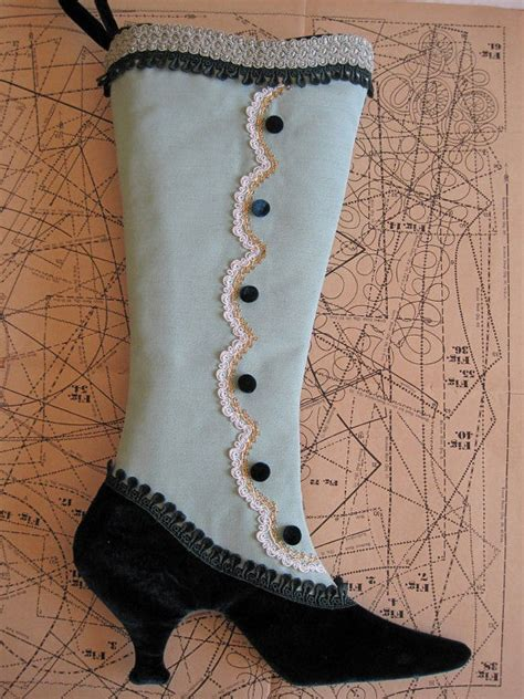 free pattern for victorian christmas stocking victorian shoe stockings fancy christmas stocking