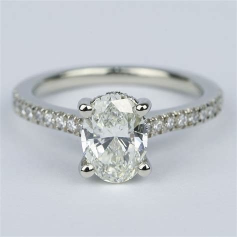 1 ct oval ring on oval micro pave engagement ring with gallery 1 20
