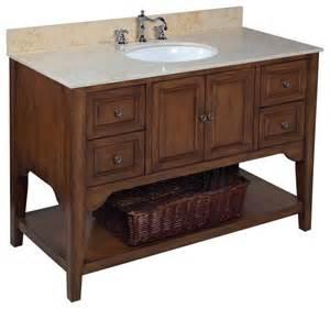 washington 48 in bath vanity travertine brown