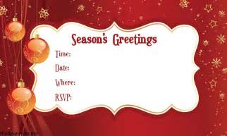 doc 10711500 free xmas invitations christmas party