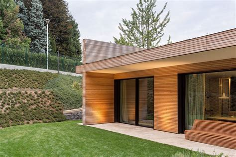 rivestimento facciate in legno villa in legno e casa di design casa prefabbricata in
