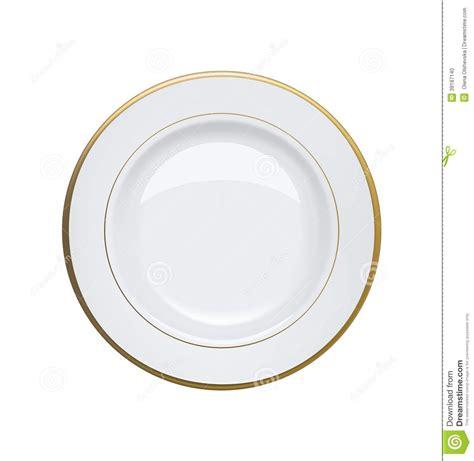 Bonia Ravit Gold Plat White white plate with gold rims on white background stock vector illustration of breakfast