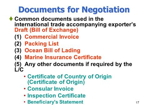 Shipping Documents Used In International Trade