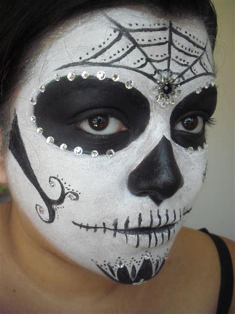 christina  makeup simple sugar skull calavera