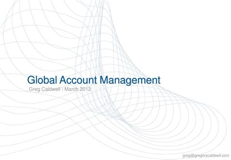 global account management perspectives