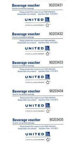 united baggage allowance coupons 5 united airlines beverage drink voucher coupon