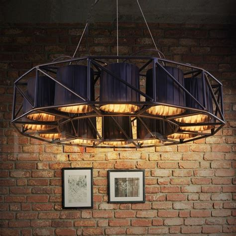 industrial style steel lighting dining room living room