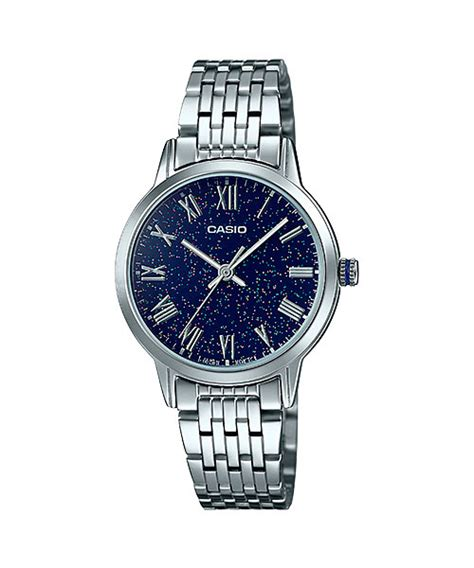 Casio Analog Ltp 1372l 2avdf Blue Withe collection black blue brown white ltp tw100