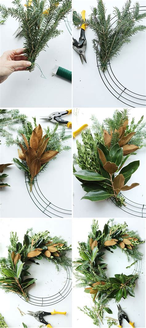 how to make a wreath from branches diy fresh magnolia mixed branch wreath darleen a lifestyle design