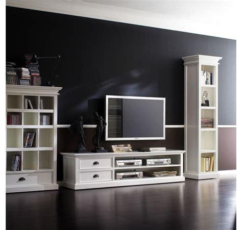 Meuble En Bois Blanc meuble tv bois blanc leirjford 180cm meuble tv meubles