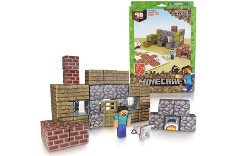 Minecraft Papercraft Shelter Set - 20 cool minecraft gifts today s parent