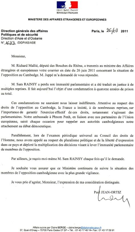 exle of formal letter in french ki media letter from the french ministry of foreign and