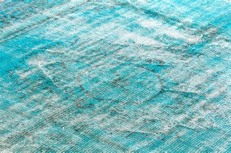dyed distressed rugs distressed vintage turkish rug dyed in turquoise color at 1stdibs