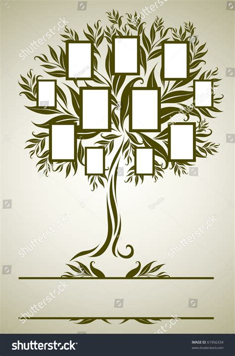 Vector Family Tree Design Frames Autumn Stock Vector 61956334 Shutterstock Vector Family Tree Design With Frames And Autumn Leafs Place For Text