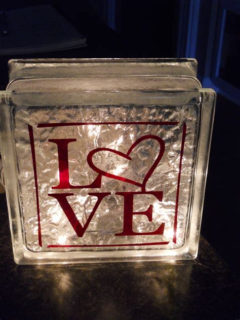 glass christmas light box decorated glass blocks a collection of diy and crafts