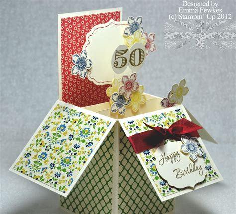 pop up anniversary card the st 50th birthday pop up card