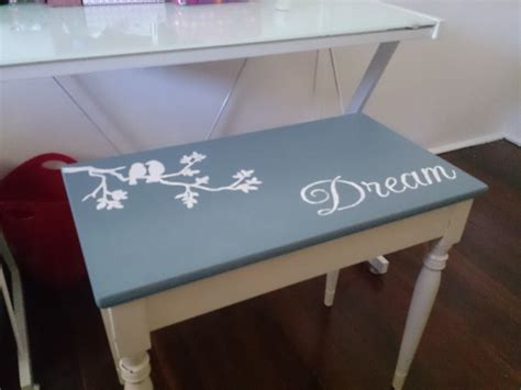 painted piano bench ideas painted and stencilled with chalk paint piano stool