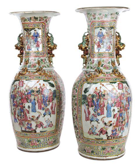 vasi cinesi dinastia ming coppia di grandi vasi in porcellana famiglia rosa cina