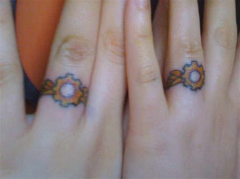 romantic couples tattoos wedding band tattoos for couples
