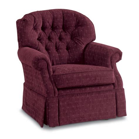 Looking For Recliners Traditional Swivel Rocker With Tufted Back And Kick Pleat