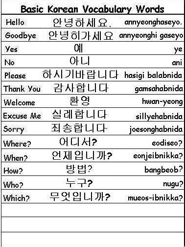 basic theme meaning in hindi basic korean vocabulary words learn korean korean