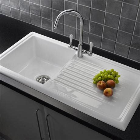 reginox kitchen sinks reginox white ceramic 1 0 bowl kitchen sink with mixer tap
